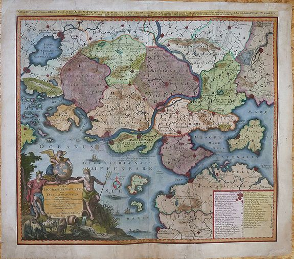 SEUTTER, Matthaeus  - Mappa geographiae naturalis sive Tabella Synoptica...[guide to the mapmaker's art]