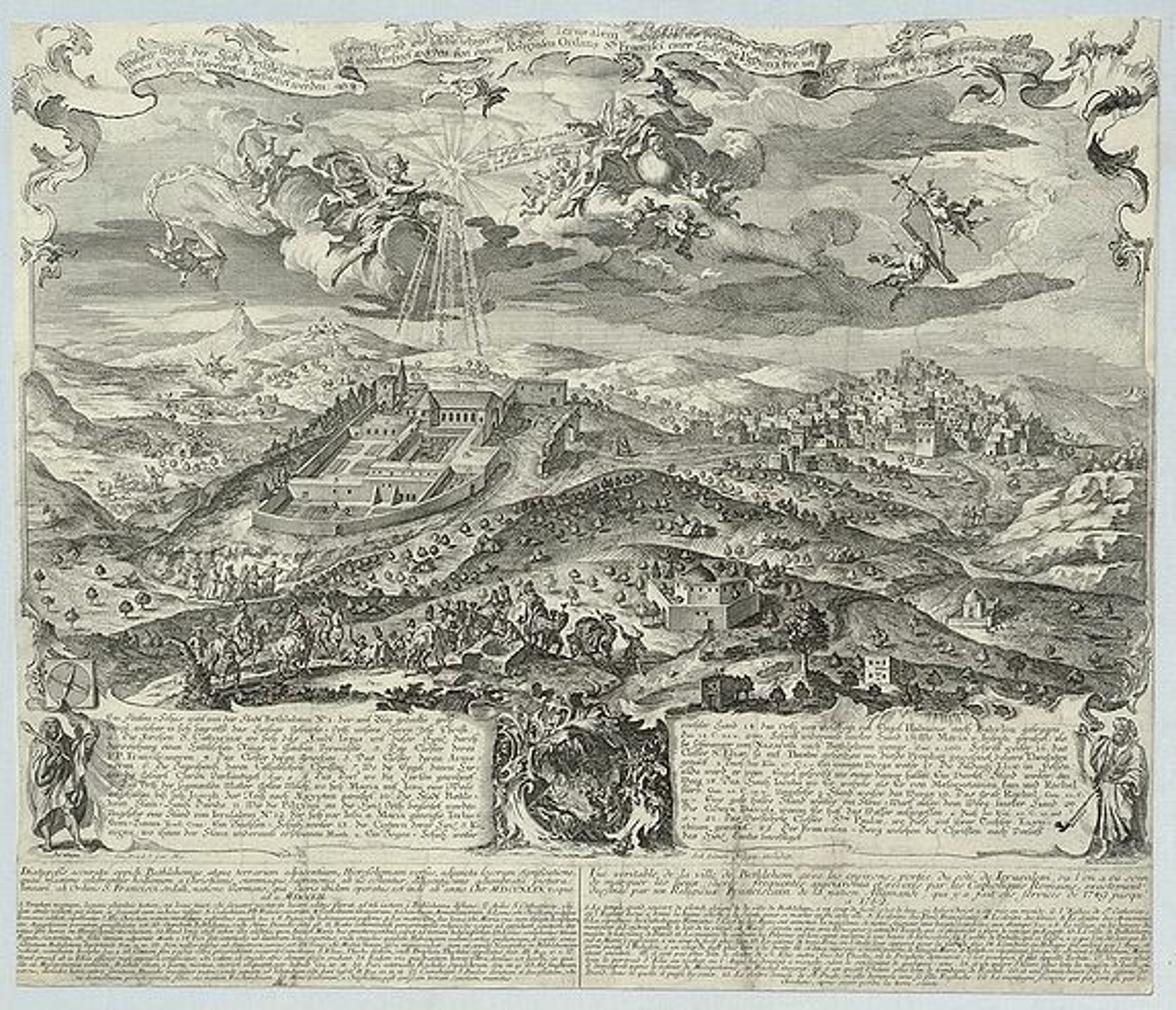 GOEZ, G. - Waher Abriss der Stadt Bethlehem. . .