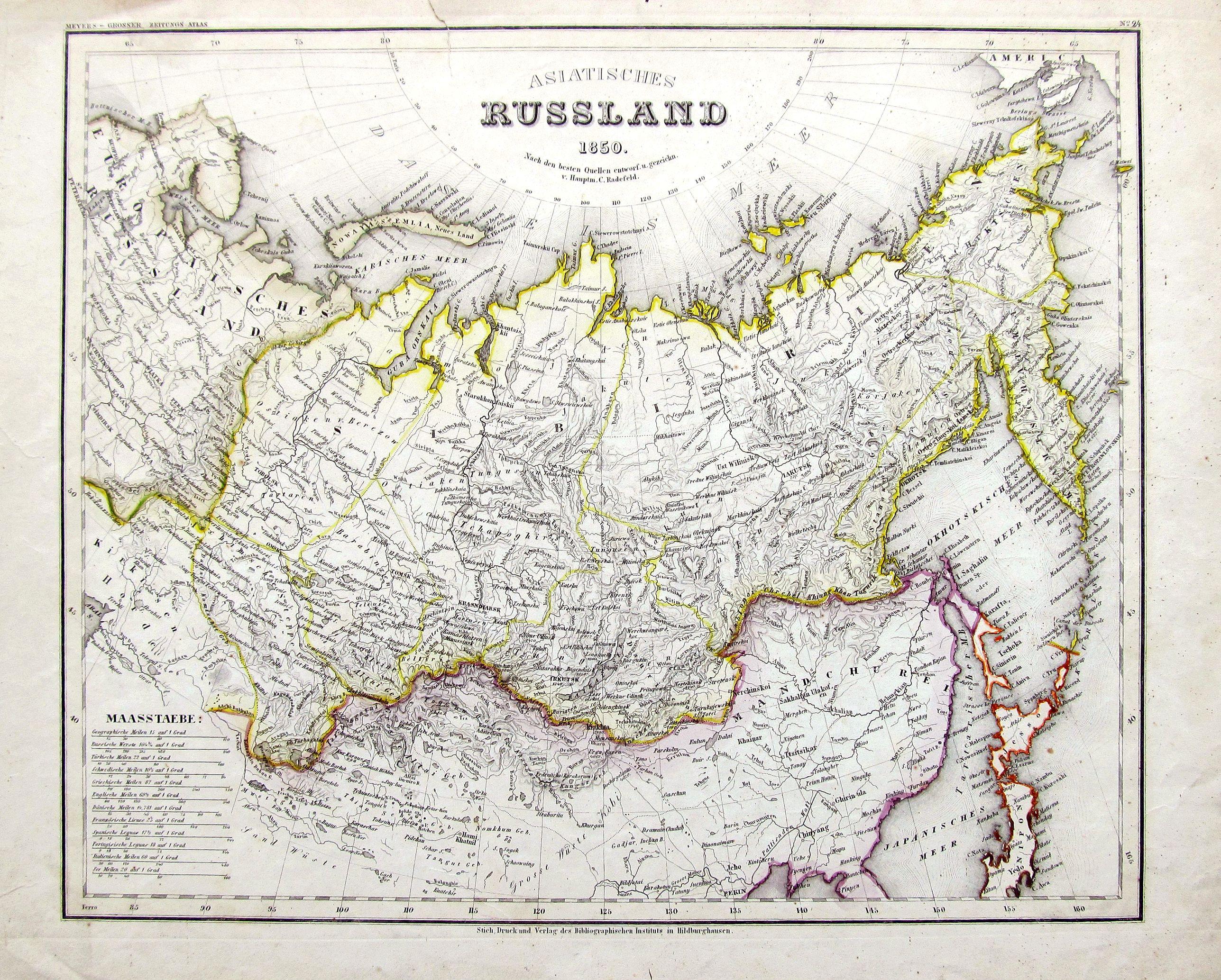 RADEFELD, C. - Asiatisches Russland 1850.