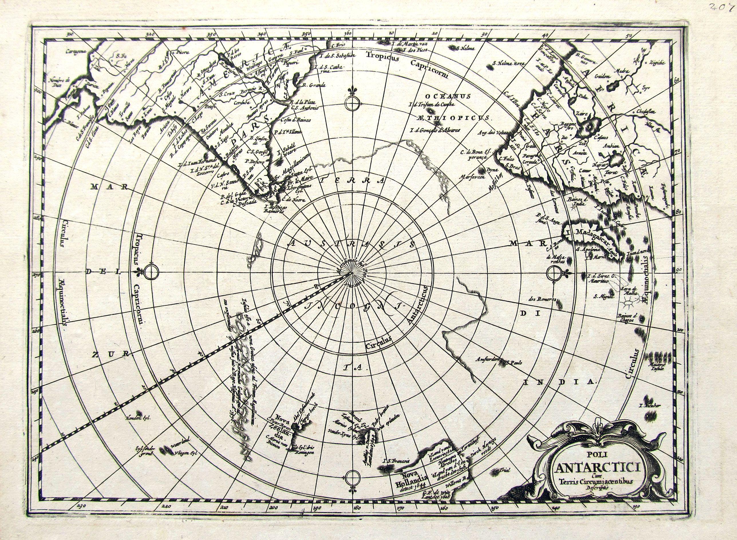 ANONYMOUS. - Poli Antarctici cum Terris Circumajacentibus descriptio.
