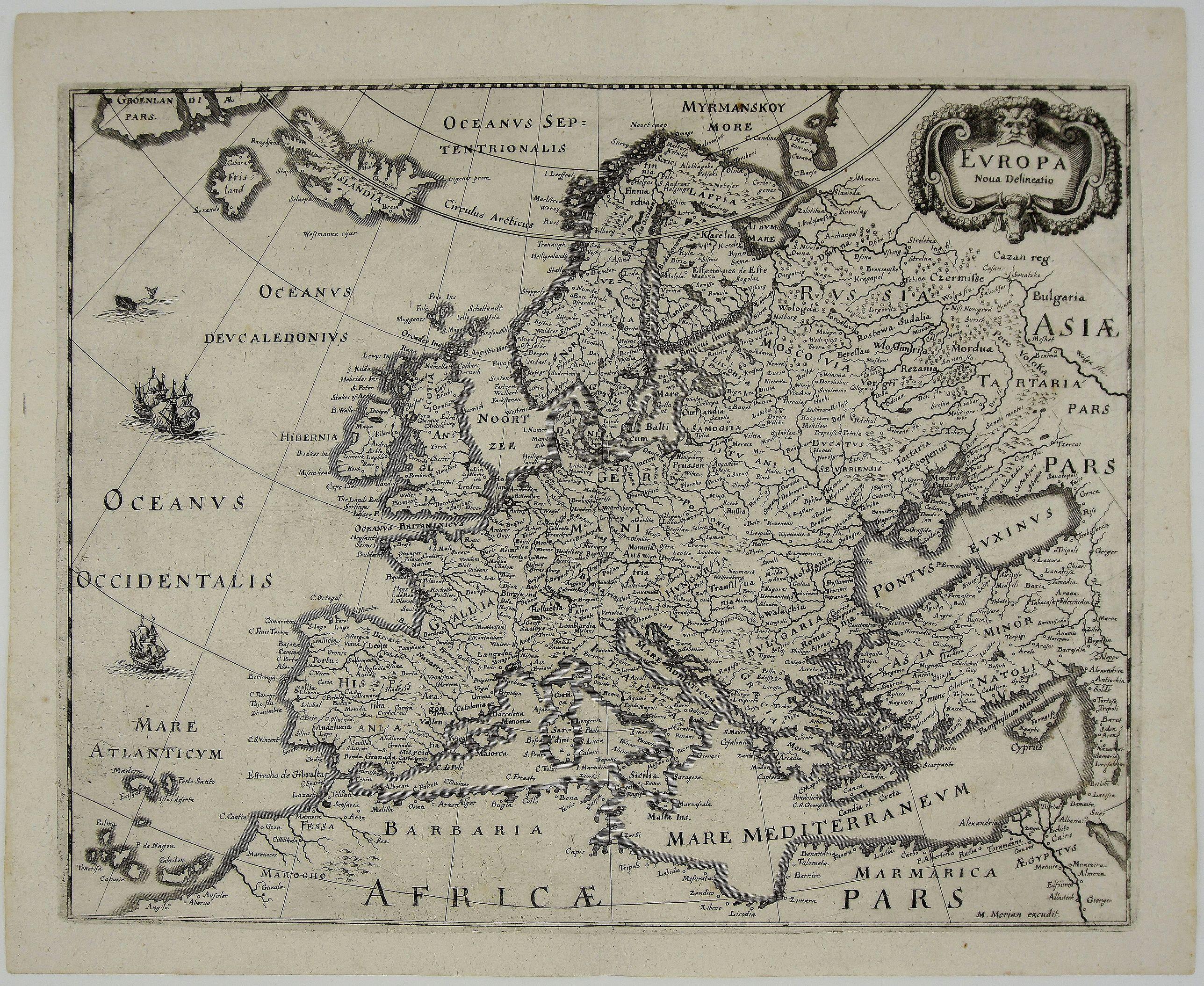 MERIAN, M. - Europa Nova Delineatio.