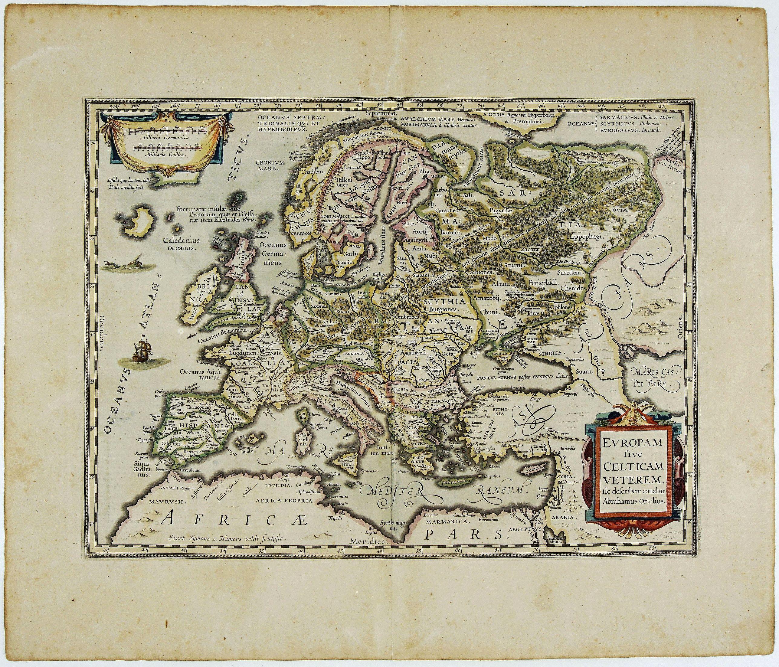 JANSSONIUS, J.  - Europam sive Celticam Veterem, sic Describere Conabar Abrahamus Ortelius.