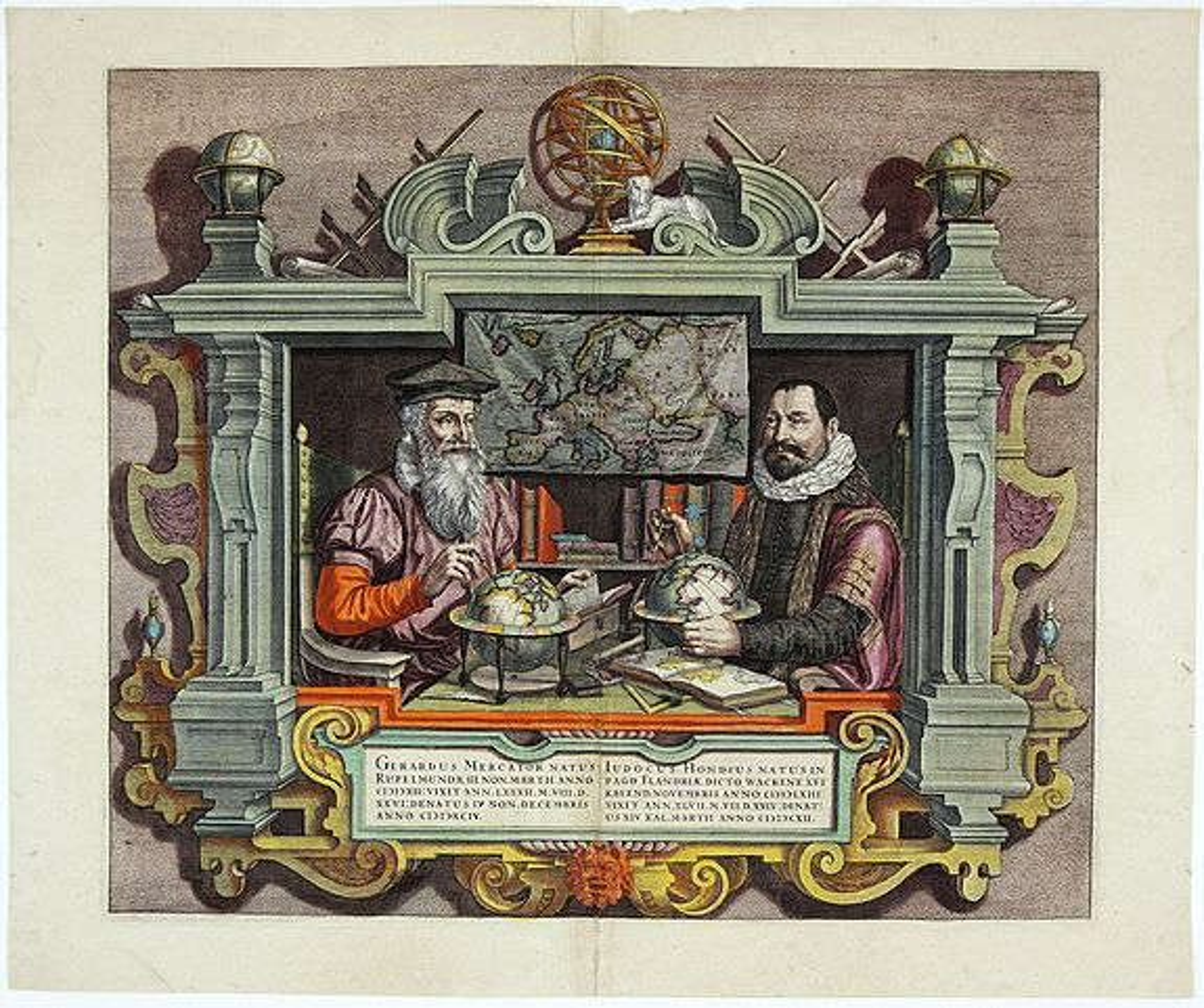MERCATOR,G./ HONDIUS,J. - [Title page] Gerardus Mercator Natus Rupelmundae III Non. Mart II Anno CICICXII..