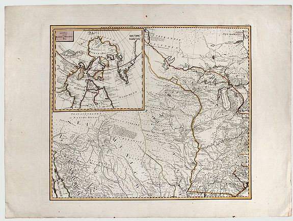 SCHRAEMBL, F. A. - [Map of the interior of North America and New Spain] (sheet: No.2)
