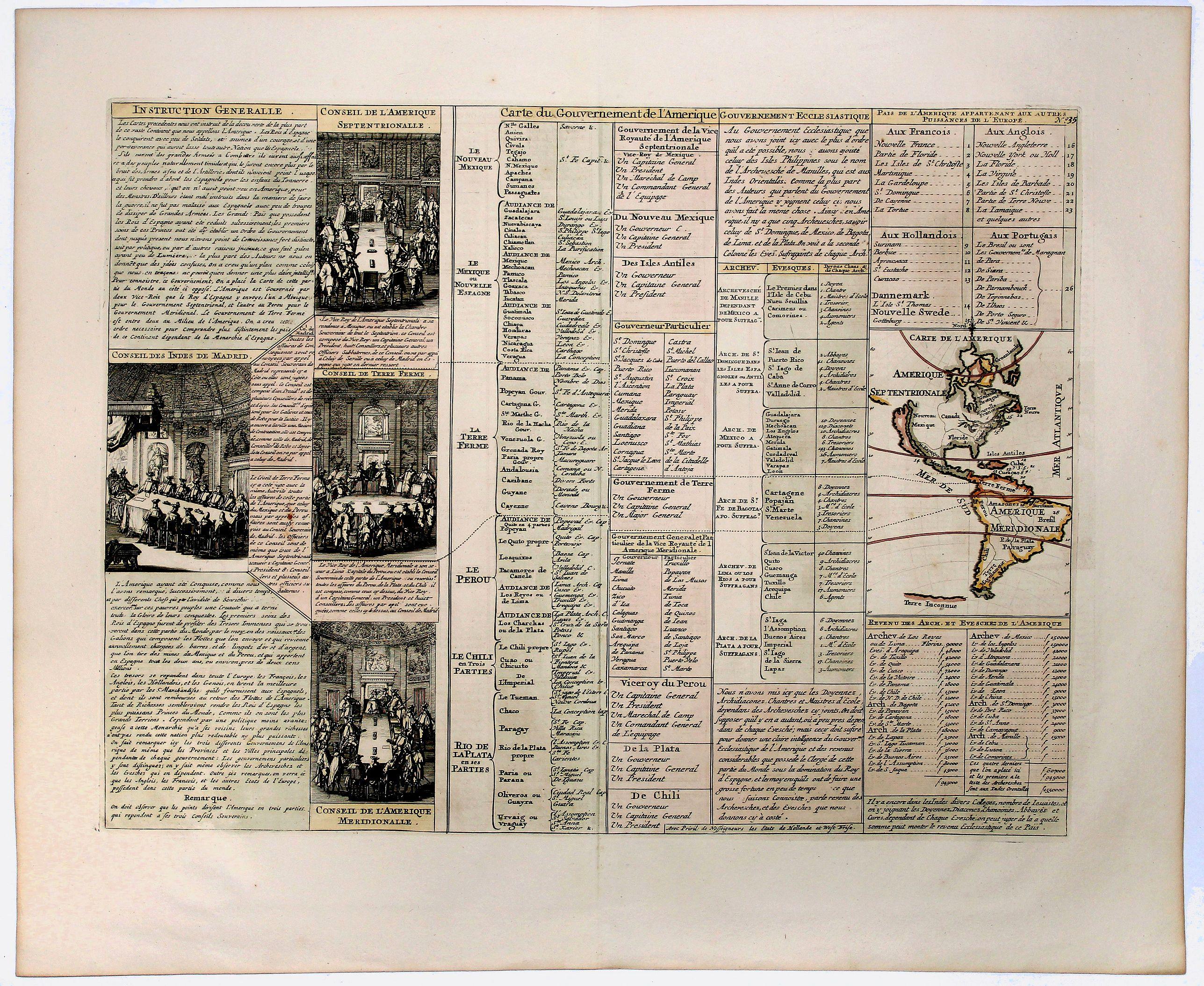 CHATELAIN, H. - Carte du Gouvernement de l' Amerique [California Island].