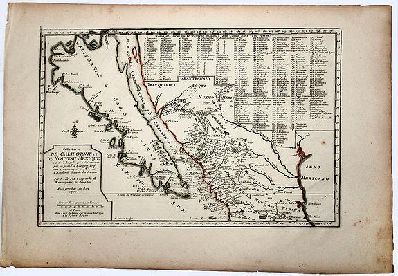 DE FER, N. - Cette Carte DE CALIFORNIE et DU NOUVEAU MEXIQUE.