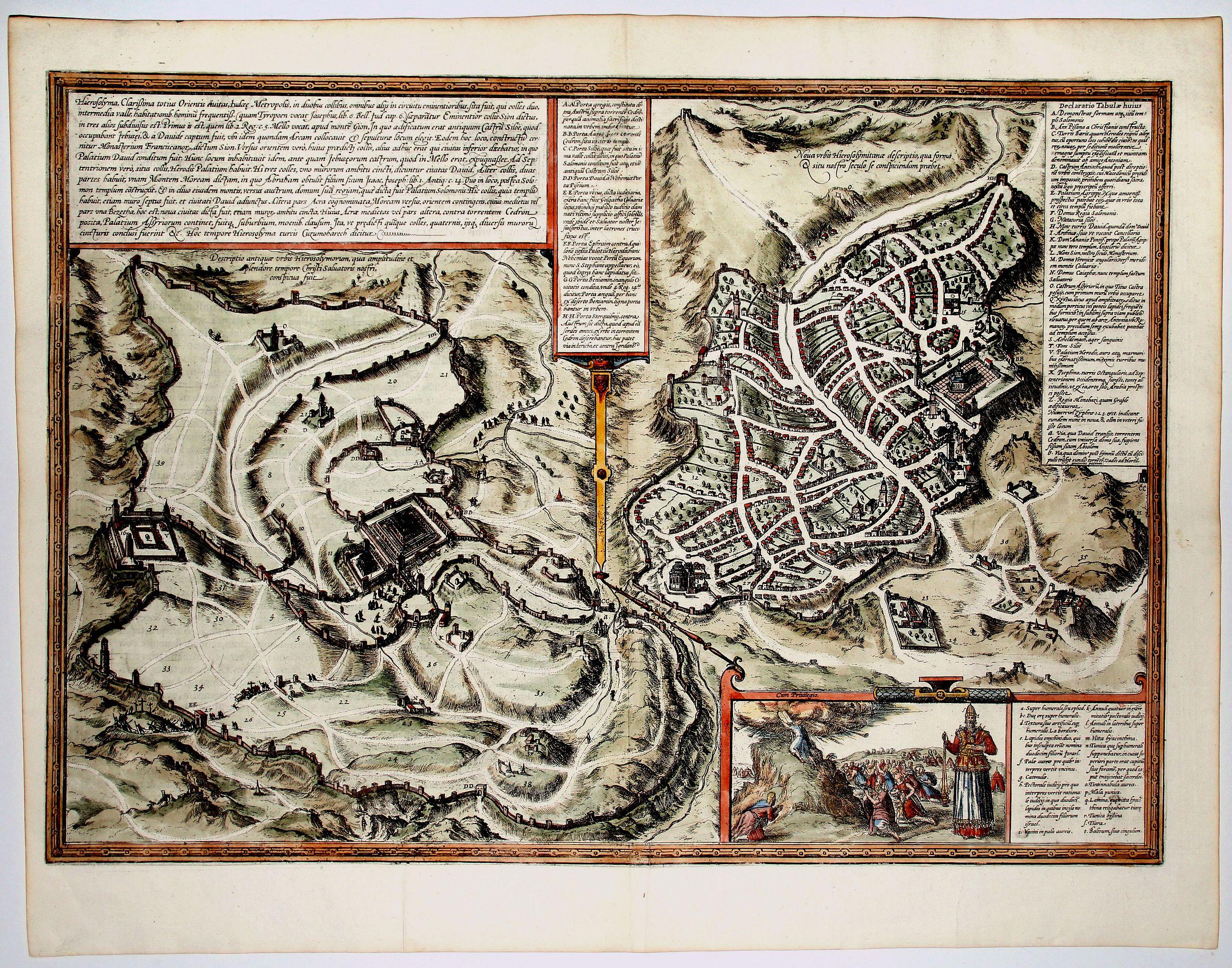 BRAUN,G. / HOGENBERG, F. - Hierosolyma, Clarrisima Totius Orientis Civitas ludaee Metropolis… (Jerusalem)