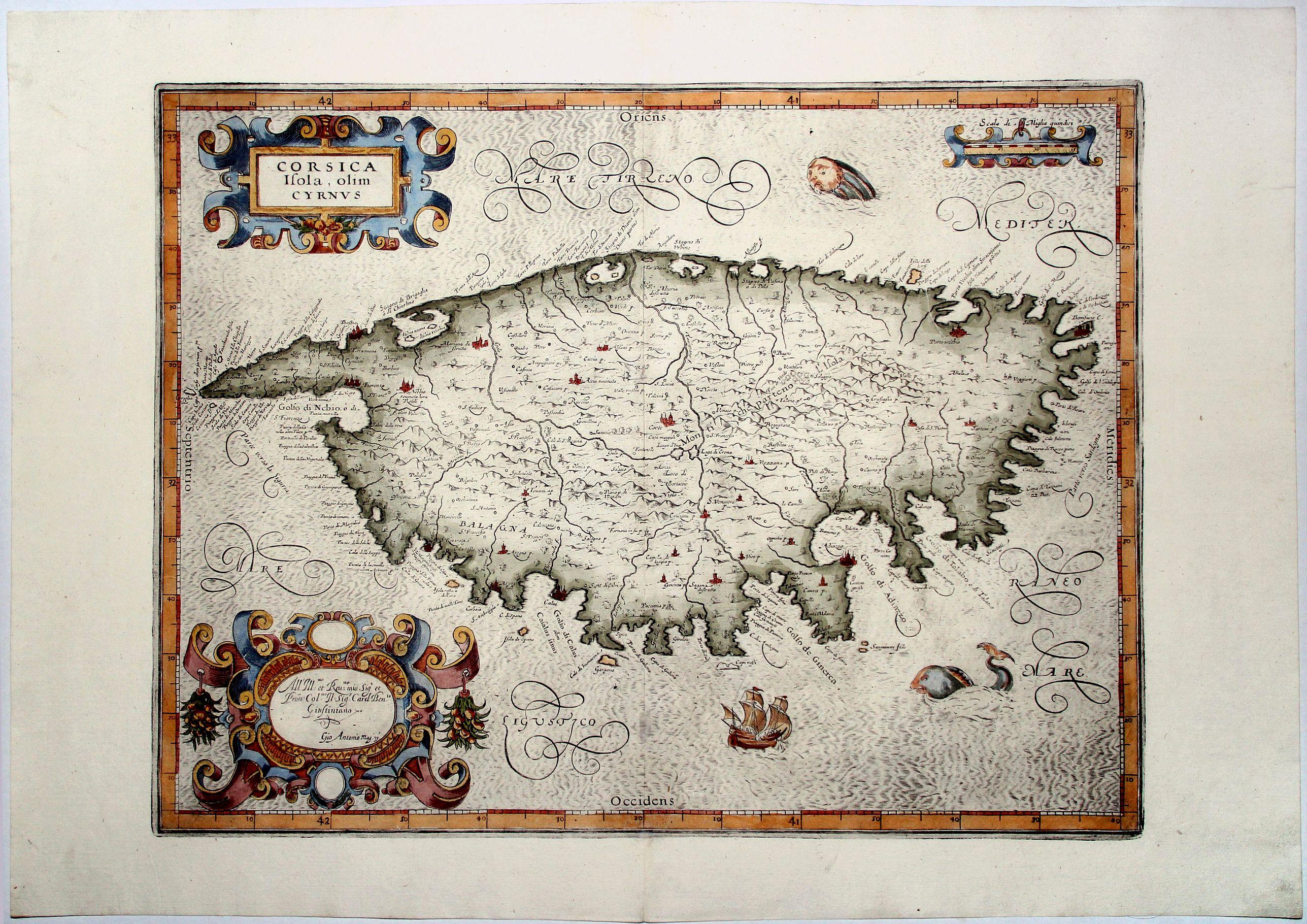 MAGINI, Antonio - CORSICA Isola, olim Cyrnus.