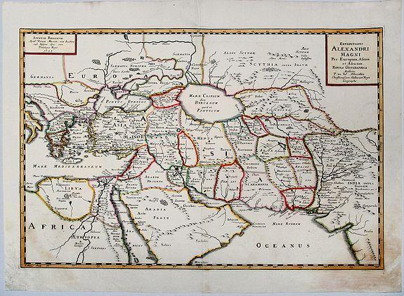 DU VAL, Pierre - Expeditionis ALEXANDRI MAGNI Per Europa, Asiam et Africam.