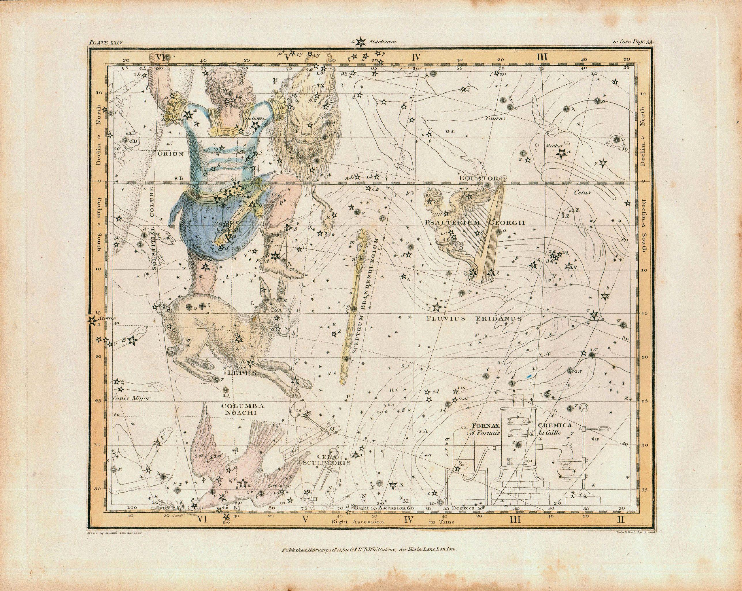 JAMIESON, Alexander - Jamieson Celestial chart plate 24, first edition.