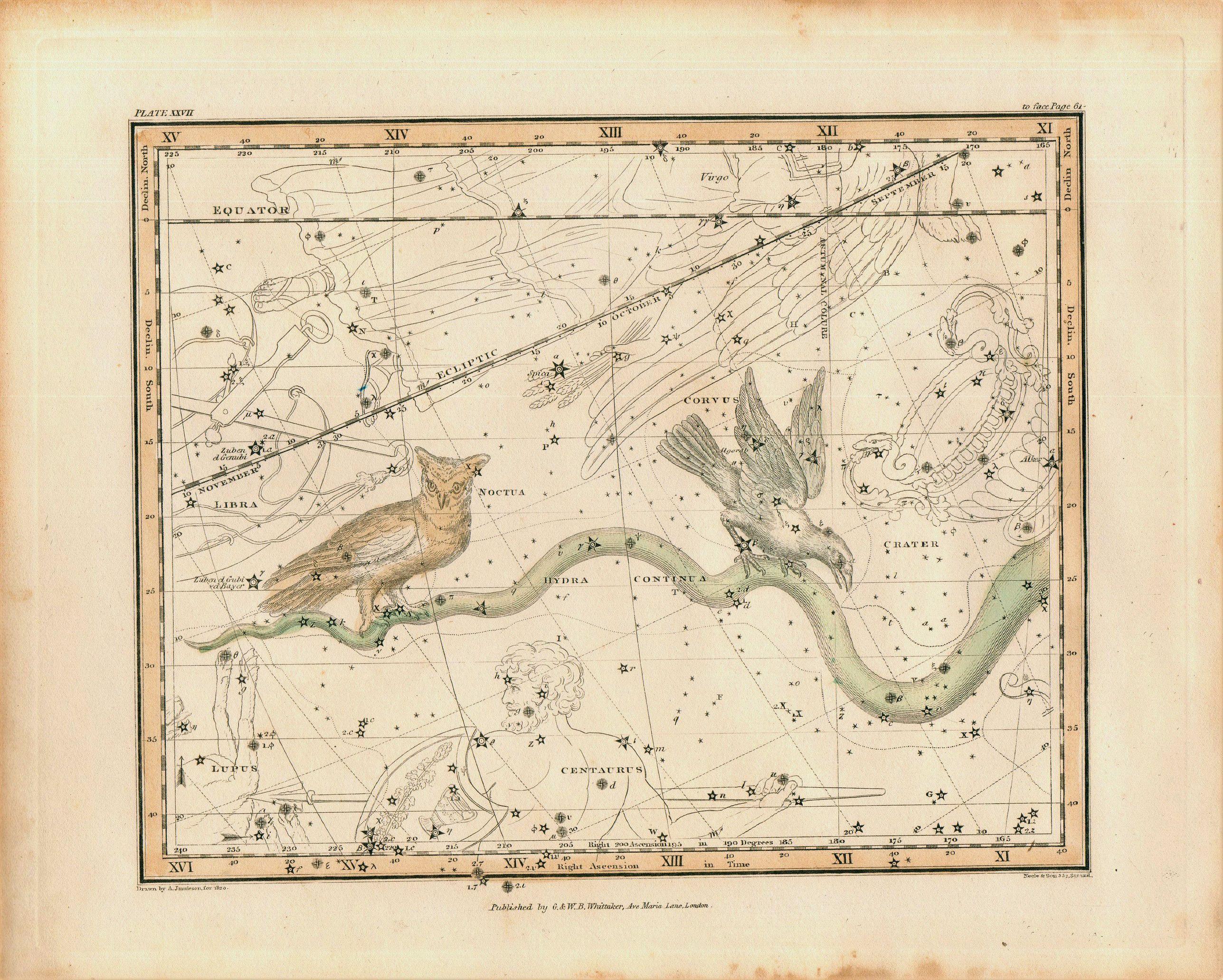 JAMIESON, Alexander - Jamieson Celestial chart plate 27 first edition.