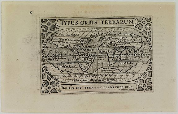 BERTIUS, P.  - Typus Orbis Terrarum.