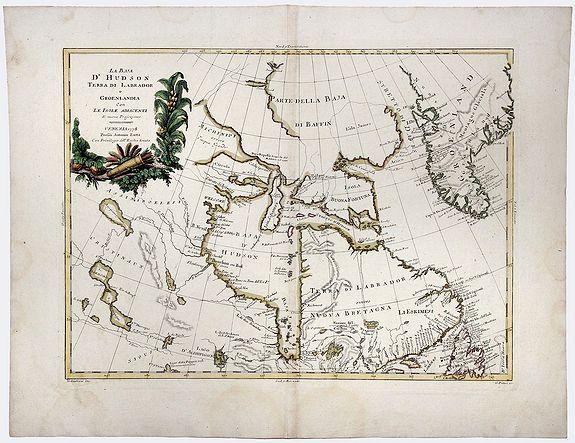 ZATTA, Antonio. - La Baja D' HUDSON Terra Di Labrador e Groenlandia con Le Isole Adiacenti.