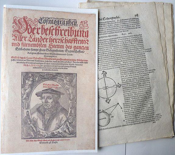 MÜNSTER, Sebastian. - (Fragment from the Cosmographia)