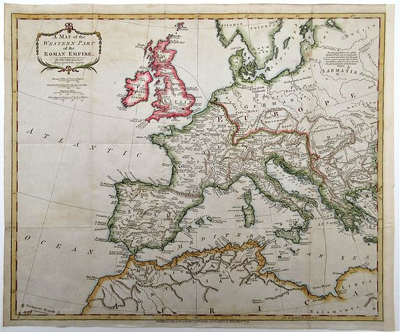 KITCHIN, Thomas. - A Map of the Western Part of the Roman Empire.