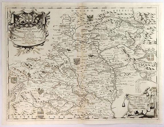 CORONELLI, V.M. - Marcomania Hoggidi Marchesato de Moravia Detto Volgarmente Marnhem. . .