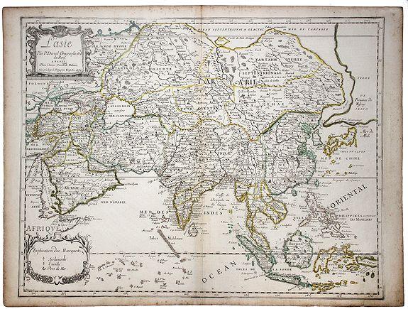 DUVAL, P. - L'Asie par P. Duval Geographe ord du Roy. [Korea as an island]