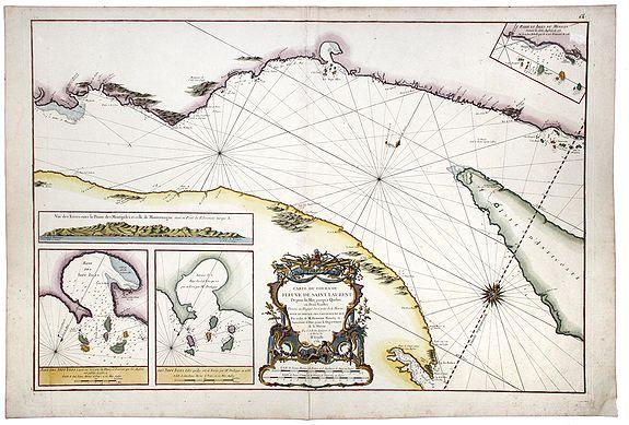 BELLIN, J.N. - Carte du Cours du Fleuve de Saint Laurent. Depuisla Mer jusqu'a Quebec en Deux feuilles . . .