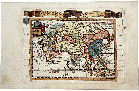 BAECK, Elias. - L'Asie la partie du monde la plus grande vers l'Orient.