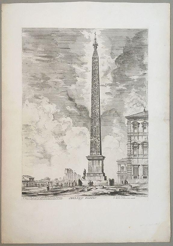 PIRANESI, Giovanni Battista - Obelisco Egizio.