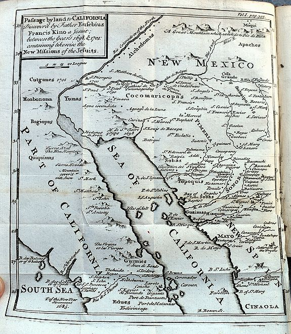LOCKMAN, J. - Travels of the Jesuits...(with Kino map of California!).