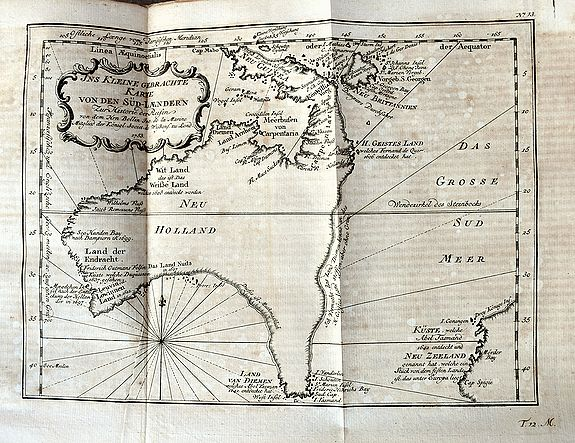 SCHWABE, J. - Allgemeine Historie der Reisen... (including rare Australia map!)