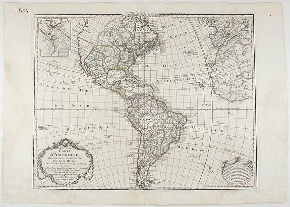 DELISLE, G. - Carte d'Amérique Dressée pour l'instruction. . .