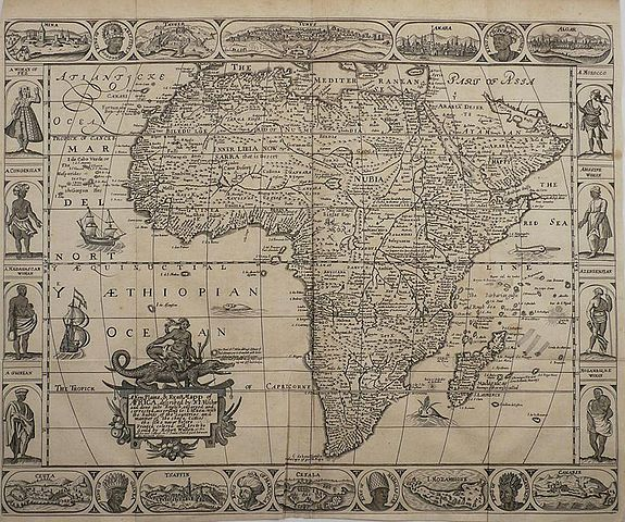 WALTON, R. - A New Plaine and Exact Map of Africa.