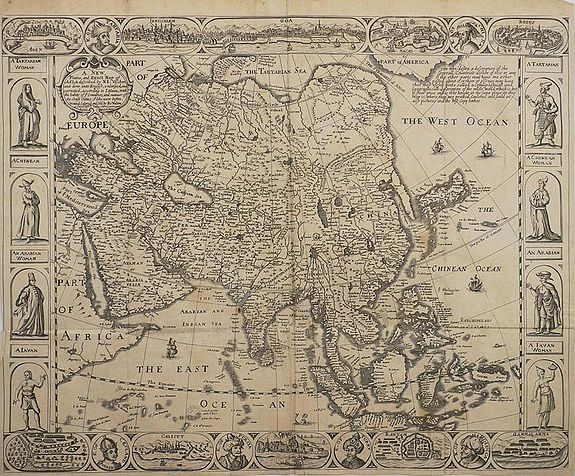 WALTON, R. - A New Plaine and Exact Map of Asia.