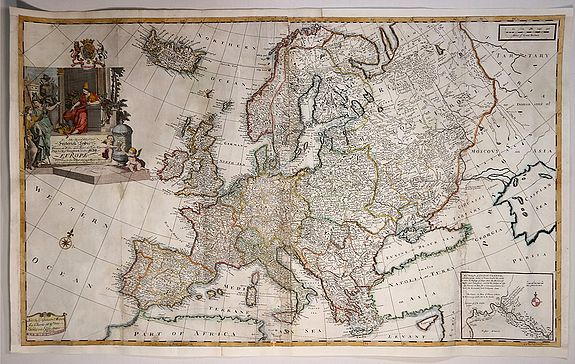 GRIERSON, G., To His Royal Highness Frederick Lewis, Prince of Wales and Earl of Chester, Electoral Prince of Brunswick, This Map of Europe …, antique map, old maps