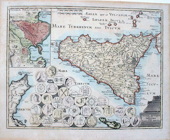 Weigel, C. - Sicilia antiqua quae et Trinacria dicta nummis Siculis illustrata.