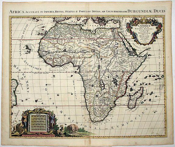 JAILLOT, A-H. - AFRICA Accurate en Imperia, Regna, Status & Populos Divisa, ad Usum Seremosso,o BURGUNDIAE DUCIS.