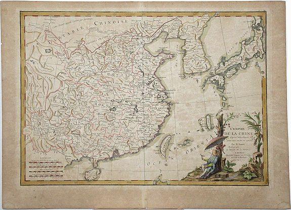 LATTRÉ / BONNE, R. - L'EMPIRE DE LA CHINE d'apres l'Atlas Chinois avec les isles du Japon.