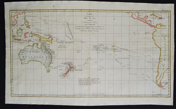 COOK, T / Whitchurch W. - Carte d'une partie de la Mer du Sud Contenant les Découvertes des Vaisseaux de sa Majesté le Dauphin, Commodore Byron, La Tamar. . .
