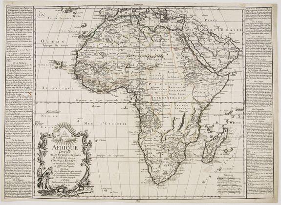 DAUMONT, J- F. - Afrique Divisée en ses Grandes Régions et Subdivisée. . .