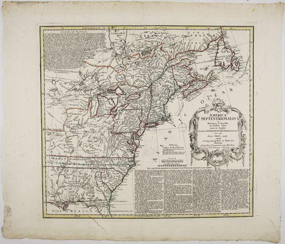 HOMANN, J. B. - America Septentrionalis a domino d'Anville in Galiis edita nunc in Anglia. . .