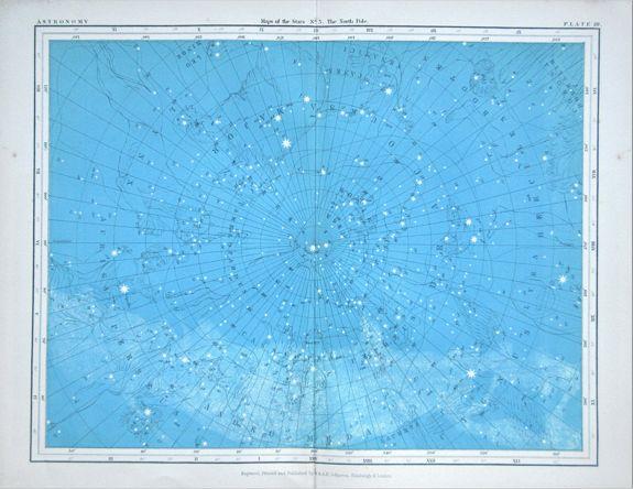 JOHNSON, Alexander Keith. - An attractive set of six celestial plates.