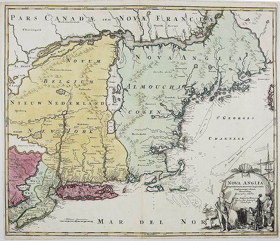 HOMANN, J.B. - NOVA ANGLIA. Septentrionali Americae implantata. Anglorumique coloniis florentissima. . .