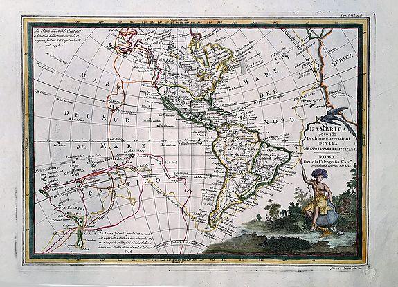 CASSINI, G.M. - L'America secondo le ultime osservazioni divisa ne' suoi stati principali.