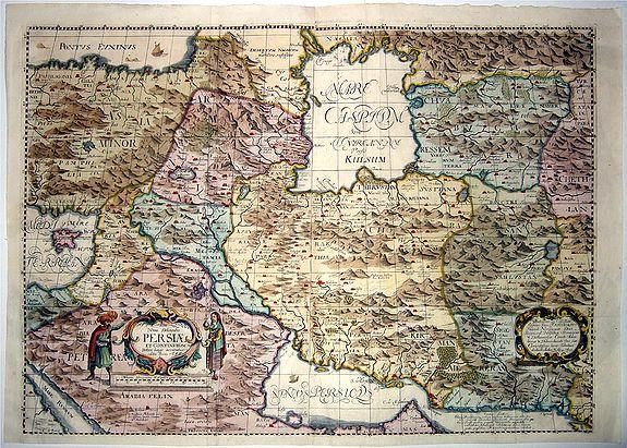 ROTHGIESSER, Christian Lorensen after Olearius - Nova Delineatio PERSIAE et Confiniorum Veteri longe accuratior edita Anno 1655.