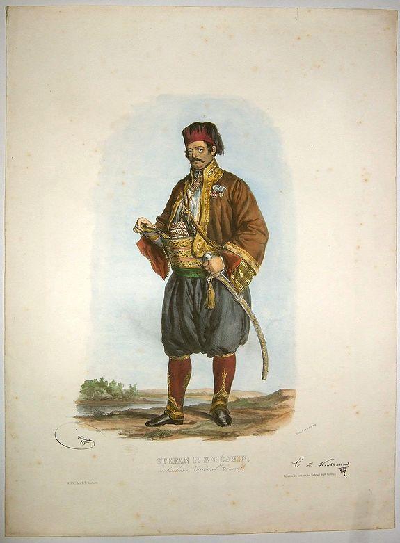 KRIEHUBER - STEPHAN P. KNICANIN, serbischer National General