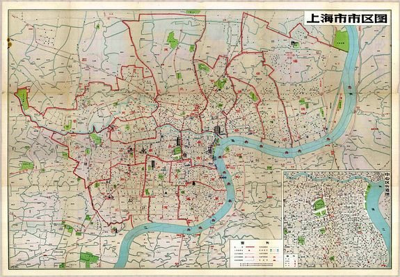 ANONYMOUS. - Map of Shanghai, 1959.