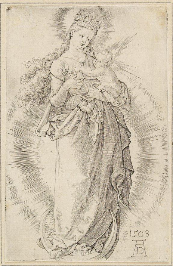 ALBRECHT DUERER - The crowned Holy Virgin.