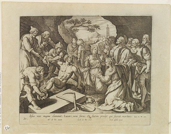 MAARTEN DE VOS . / JOAN GALLE  excudit - Biblical figures.