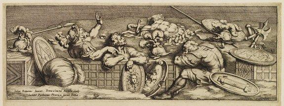 Pietri (di) Santo Bartoli. - Rome and soldiers.