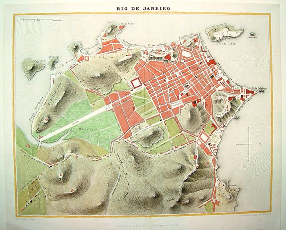 Old map by DUFOUR -Rio de Janeiro