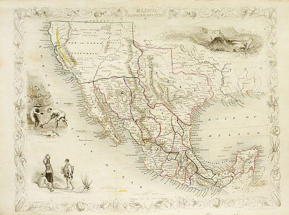 tallis mexico california and texas