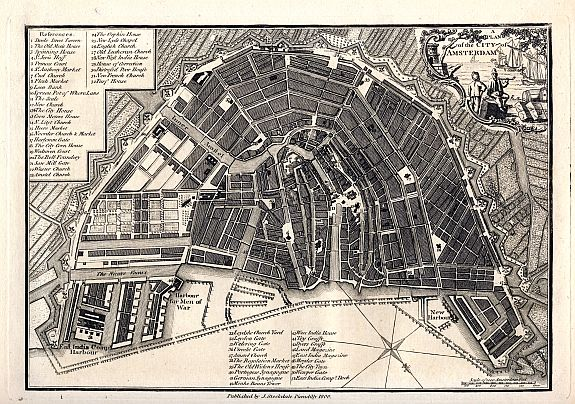 STOCKDALE A Plan Of The City Of Amsterdam - Amsterdam old map