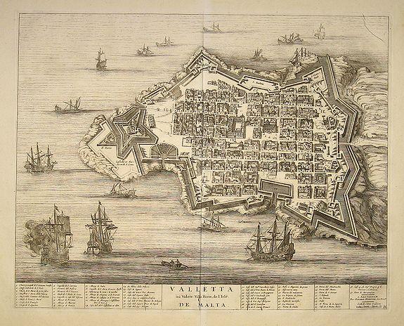 BLAEU, Joan / MORTIER, P. - Valleta ou Valet Ville Forte de l''Isle De Malta