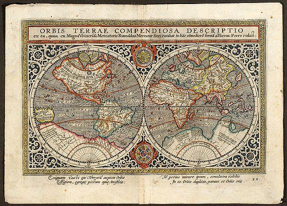 Mercator, R. - Orbis Terrae Compendiosa Descriptio ex ... Rumoldus Mercator ... Hieron: Porro redact
